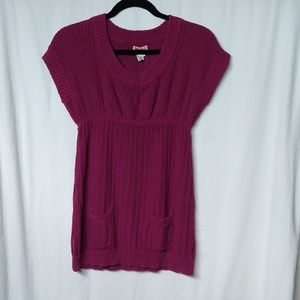 Junior's Large Mudd Fuschia Sweater Tunic